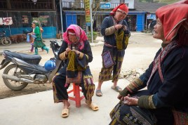 For many generations, Red Yao women spend most of their leisure time for the art of embroidery.